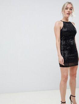 Sequin mini dress in black