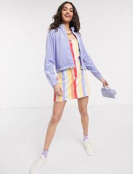 Rainbow stripe mini bodcon dress-Multi