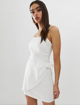 Cami dress with buckle detail-Cream