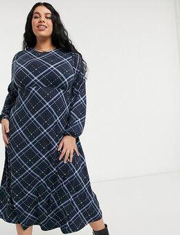 Midi dress in gingham check-Multi