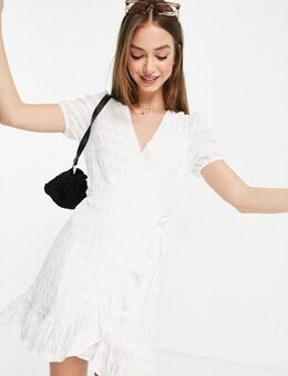 Wrap summer dress in white