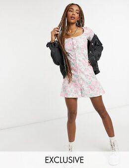 Inspired skater dress in floral print-Multi