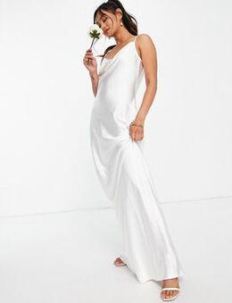 Keisha cowl neck maxi dress in ivory-White
