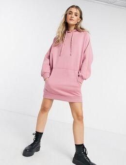 Hoodie dress in dusky pink