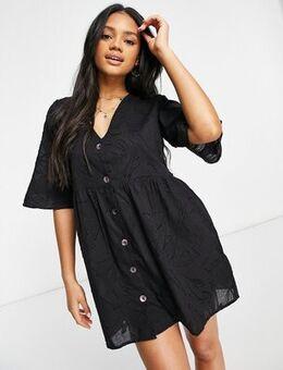 Burnout beach dress in black