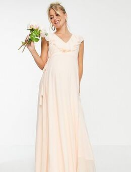 Bridesmaids maxi wrap dress in ecru-White