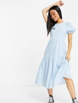 Midi tea dress in blue