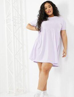 Lara smock dress in purple