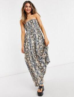 Viper Strapless Maxi Dress-Neutral