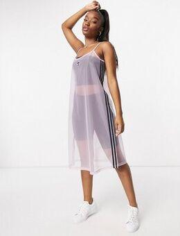 Mesh dress in sheer pink-Multi