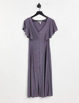 Short sleeve midi dress in grey