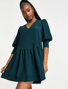 Drop hem smock dress-Green
