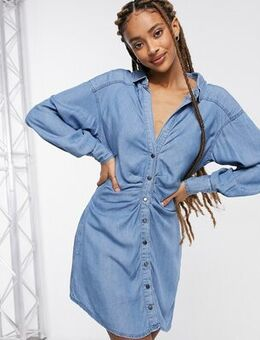 Charlie shirt dress-Blue