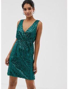 Sequin dress-Green