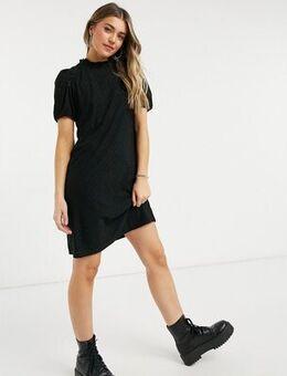 Mini smock dress in black
