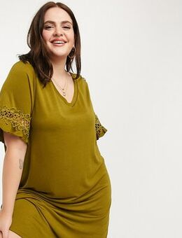 T-shirt dress in green