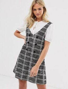Dress with tee in grey check