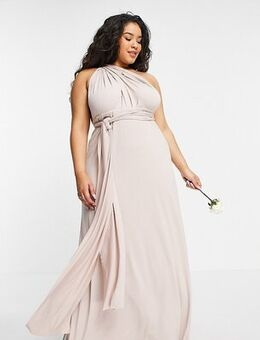 Bridesmaid multiway maxi dress in pink