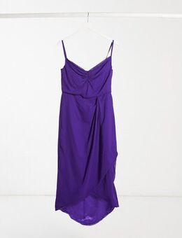 Wrap midi dress in purple
