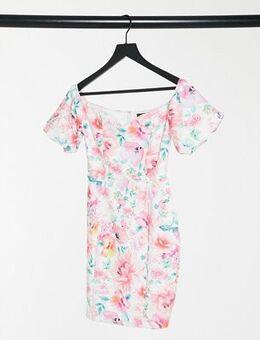Bardot midi dress in floral-Multi