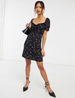 Black Print Paola Dress
