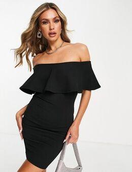 Bardot mini dress in black