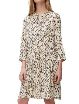 NU 20% KORTING: gedessineerde jurk met opvallende print