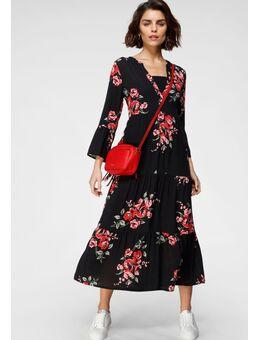 Maxi-jurk met volant mouwen