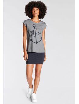 Sweatjurk tweedelig, jurk met shirt (set, 2-delig, Met T-shirt)