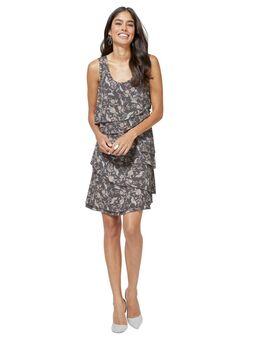 Gedessineerde jurk Jurk