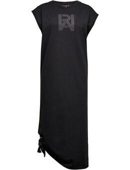 Jerseyjurk Jurk cap sleeve tee dress met leuk knoopdetail