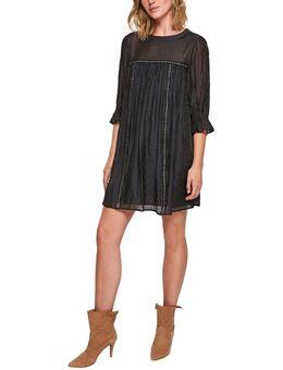 Mini-jurk met sierband