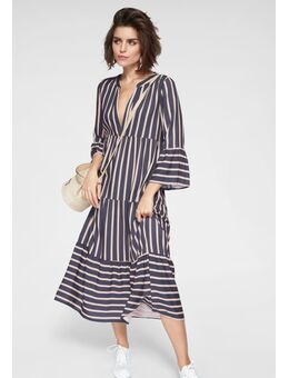 NU 20% KORTING: maxi-jurk met volant mouwen