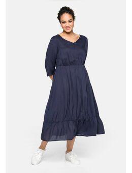 NU 20% KORTING: Midi-jurk van duurzame viscose