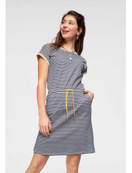 Jerseyjurk jurk met mooie print all-over of in streep-look