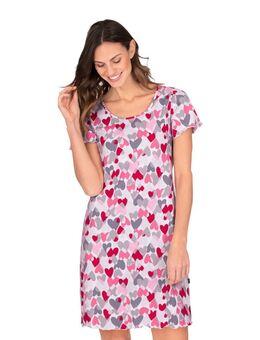 NU 20% KORTING: nachthemd met vriendelijk hartmotief