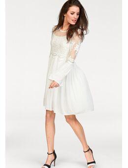 NU 20% KORTING: kanten jurk in romantische-look (set, 2-delig)