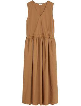 Maxi-jurk met strikbandjes om de wijdte te regelen