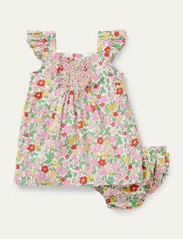 Floral Smocked Dress Pink Lemonade Ditsy Floral Boden, Pink Lemonade Ditsy Floral