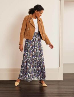 Ashburnham Maxi Skirt Grey Women , Metallic