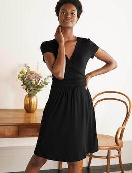 Lola Black Jersey Wrap Dress Black Women , Black