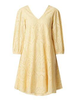 Kleid aus Bio-Baumwolle mit Lochstickereien Modell 'Penny'