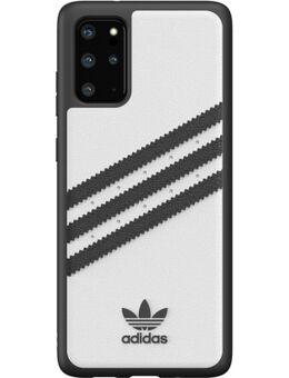 Samsung Galaxy S20 Plus Back Cover Leer Wit/Zwart