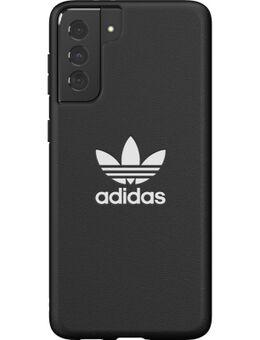 Samsung Galaxy S21 Plus Back Cover Leer Zwart