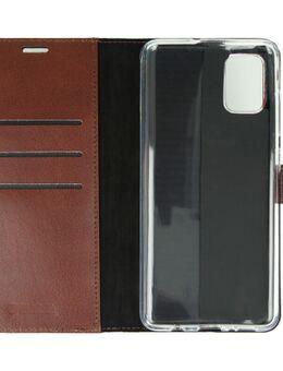 Samsung Galaxy A71 Book Case Leer Bruin