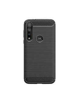 Rugged TPU Motorola Moto G8 Plus Back Cover Zwart