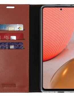Gel Skin Samsung Galaxy A72 Book Case Bruin