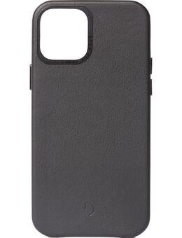 Apple iPhone 12 Pro Max Back Cover Leer Zwart