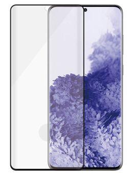 Case&Fingerprint Friendly Samsung Galaxy S21 Ultra Screenprotector Glas Zwart