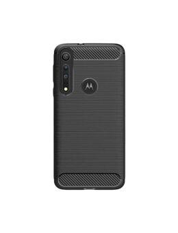 Rugged TPU Motorola One Macro Back Cover Zwart
